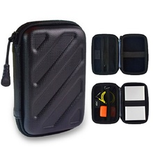 "GUANHE 2.5"" Bag Case for External Hard Drive Disk/Electronics Cable Organizer Bag/Camera/Mp5/Power Bank/card reader/Audio cable(China)"