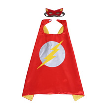 1set The Flash Mask Cloak Super Hero Superman DC Grant Gustin Kids Birthday Gift Toys Costume Cosplay Party Decoration Supplies(China)