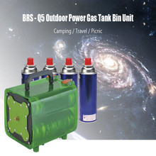 BRS Outdoor Picnic Camping Travel Power Gas Tank Unit Bin Portable Outdoor Stoves Gas Tank Bin Set for Hiking BBQ Fishing etc(China)