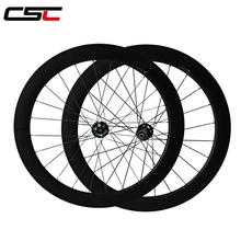 700C  60mm tubular carbon bike cyclocross wheels with Novatec hub from Taiwan