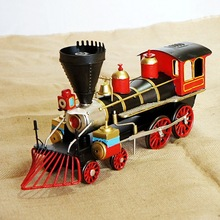 Iron Train Head Model Classic Shape Simulation Train Model Steam Engine Crafts Decoration SMT213(China)