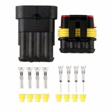 10 Kit Set Universal 4 PIN Way Sealed Waterproof Electrical Wire Connector Plug Terminal for Car Truck  Vehicle