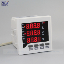 New type !!! CJ-3AV63 AC 0-450V 3 phase voltage meter 3 phase 3 wire , 3 phase 4 wire digital voltage meter instrument in stock