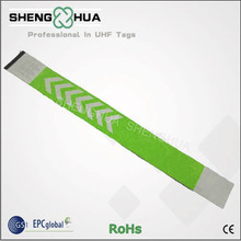 Custom Printing RFID Wristband Bracelets Green Paper Material Self-adhesive Bracelets For Concerts Fesitivals