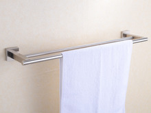 Free Shipping Bathroom Solid 304 Stainless Steel  Brushed Nickel Double Towel Bars,Towel Holder