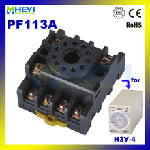 brand new 20pcs/lot Relay socket base PF113A used for 10F/MK H3Y-4 JS14C JS14S time relay timer