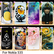 Soft Phone Cases For Microsoft Nokia Lumia 535 N535 5.0 inch Cases Colorful Smartphone Hard Back Covers Skin Housing Sheath Bags