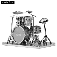 Adult Metal 3D Puzzle DIY Kids Games Assembled Teaser Model 3D Educational Toys Metal Puzzle For Children Drums Puzzles(China)
