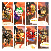 Free Shipping NECA Marvel Mini Climbing figure Model Toys Fans Collection DIY Doll Gift Iron Man Batman Spiderman Aliens