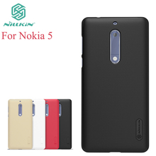 For Nokia 5 Case Nillkin Case For Nokia 5 Hight Quality Super Frosted Shield For Nokia 5 +Screen Protector(China)