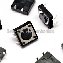 100PCS/LOT 12 * 12 * 4.3MM vertical touch switch shrapnel good quality micro-switch(China)