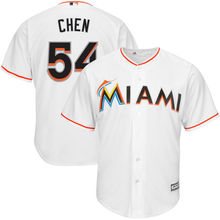 MLB Men's Miami Marlins Wei-Yin Chen White Home Cool Base Player Replica Jersey(China)
