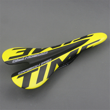 Bicycle Matte Carbon Saddle Time 3k Full Carbon Fibre Cycling MTB Road Bike Seat Bicyle Parts Free Shipping YELLOW