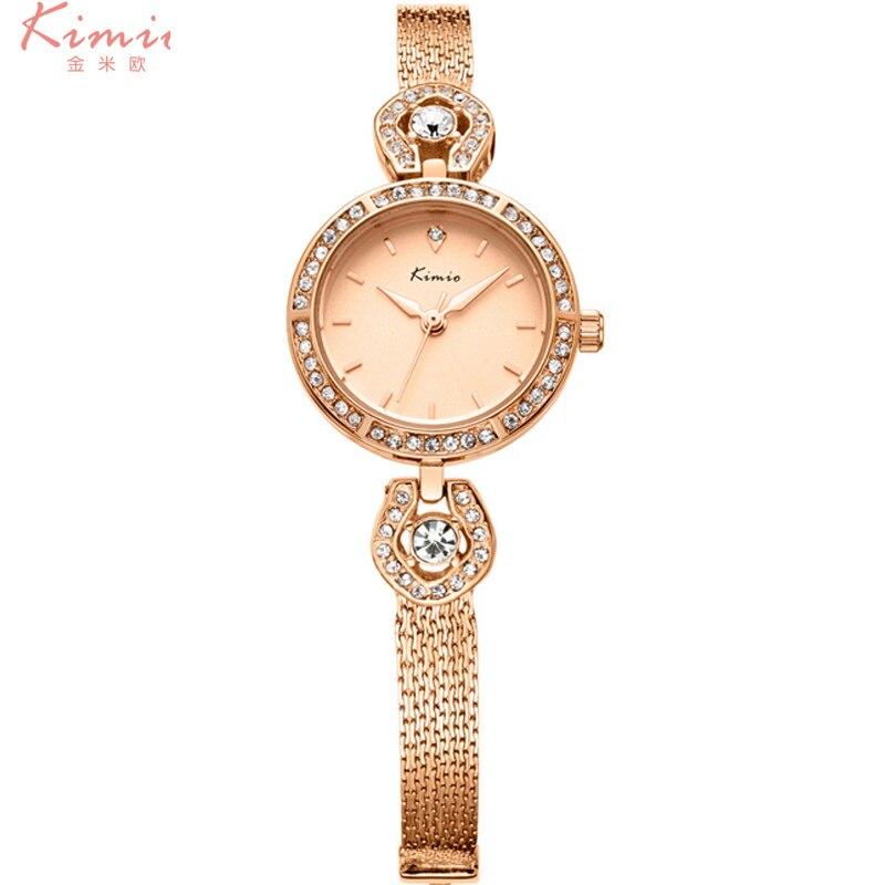 2017 Reloj Mujer  KIMIO Luxury Rhinestone Ladies Bracelet Watches Hot Sell Women Waterproof Fine Mesh Belt  Women Wrist Watch <br><br>Aliexpress