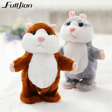 Fulljion Talking Hamster Plush Toys For Children Stuffed Animals Kids Kawaii Mouse Dolls Educational Speak Pet Gift Sound Record(China)