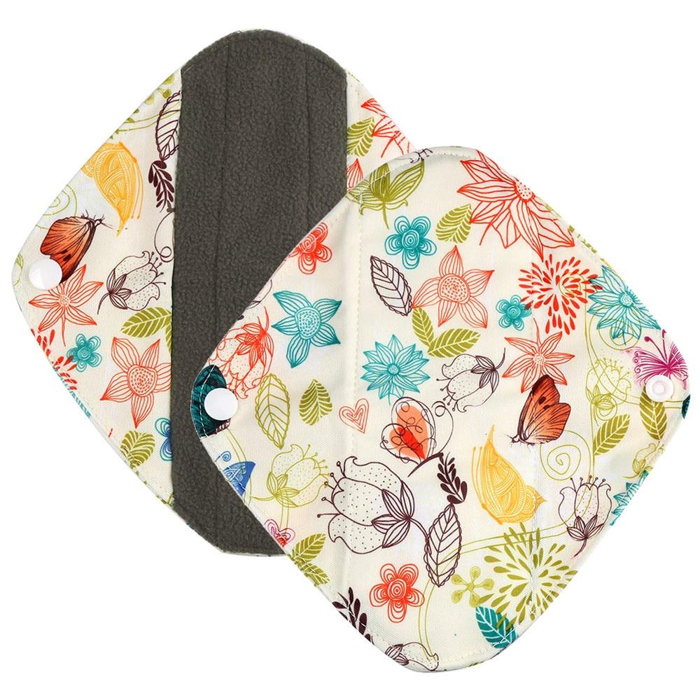 1pc New Arrival Women's Reusable Bamboo Cloth Washable Menstrual Pad Mama Sanitary Towel Pad Pretty Feminine Hygiene Product 13
