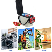 Smad Portable 12V 6L Auto Mini Car Refrigerator Outdoor Cooler Warmer Quality ABS Truck Electric Fridge for Travel RV Boat
