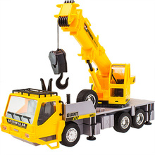 Kids Toy 7CH Wireless Remote Controlled Chargeable RC Engineering Vehicles RC Crane Truck