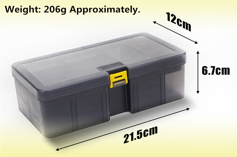 Double Layers Thickened Size Plastic Lure Fishing Box for Fishing Bait Tools Accessories Fishing Tackle Storage Box 21x12x6.5cm (12)