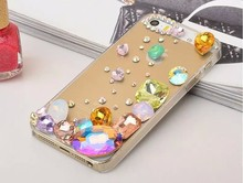 Hot Selling Bling Colorful Rhinestone Hard PC Celular Funda Cover for iPhone 4S 6 7 SE 6 S Plus 3G 5 5C 7 Plus 5S 4 Case Coque