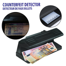 UV Light Practical Counterfeit Banknotes Money Detector Bill Currency Fake Tester Detector Checker with ON/OFF Switch EU Plug