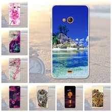 for Nokia Microsoft Lumia 540 Case Back Cover for Nokia Microsoft Lumia 540 Phone Covers Cases Soft Silicone Flower Skin Cover(China)