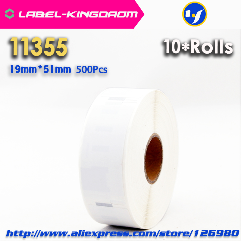 10 Rolls Dymo Compatible 11355 Label 19mm*51mm 500Pcs/Roll Compatible for LabelWriter400 450 450Turbo Printer Seiko SLP 440 450