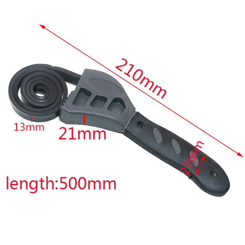 tool kit for car 500mm Rubber Strap Wrench Universal Black Wrench Adjustable Spanner For Any Shape Opener Tool Car Repair Tools