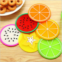 PVC cup mat coasters Colorful Fruit mug placemats Table decoration accesorios de cocina Novelty households No.0089