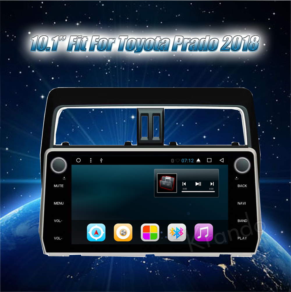 Krando Android 10.1 full touch car radio for toyota prado 2018 car audio gps navigation system WIFI BT KD-TP118 (1)