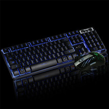 Best Price LED Gaming Wired 2.4G keyboard And 3200DPI Mouse Set to Computer Multimedia Gamer