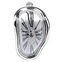 Creative Vertical Twisted Design Roman Numerals Wall Clock Quartz Modern Home Decoration(China)