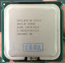 Intel Xeon Processor E5420 SLBBL EO processor CPU core works on LGA775 mainboard no need adapter 100% normal work(China)