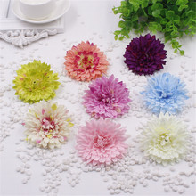 Colourful cute silk ball chrysanthemum flower fake artificial dandelion bouquet Outdoor garden decoration flower plant(China)