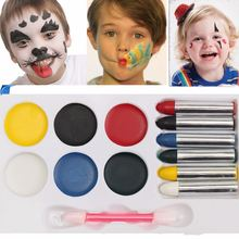 Colorful Face Body Paint Sticks Crayons Set/Kit Oil Painting Pigment For Children Halloween Fancy Funny Drawing Tools Toys