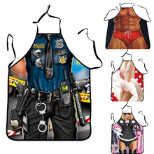 Sexy Man Women Digital BBQ Apron Bibs Home Cooking Baking Party Funny Cleaning Aprons Pinafore Kitchen Suplies Tablier Cuisine