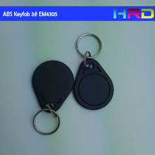 100pcs em4305 read and write low frequency rfid contactless keyfob alien card key fob promix tag abs-3 model