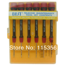 free shipping BEST-8811A 6 in 1 precision screwdriver set specialized in cell phone opening for samsung blackberry nokia