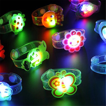 3D Cartoon LED Night Light Illuminated Wristband Lamp Party Christmas Decoration Colorful Night Lights Lamps For Kids Baby Gifts(China)