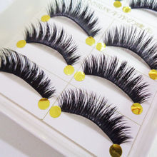 New Fashion 5 Pairs New Natural Long Soft Eye Lashes Makeup Thick Fake False Party Eyelashes Hot Sale