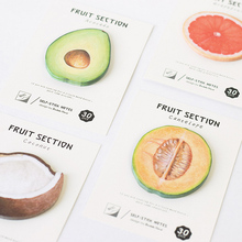 1 X cute Fruit Section memo pad paper sticky notes post it kawaii stationery papeleria school supplies material escolar