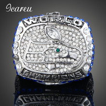 Rhinestones Rings 2013 Seattle Seahawks Rugby Super Wrist Championship Ring For Man