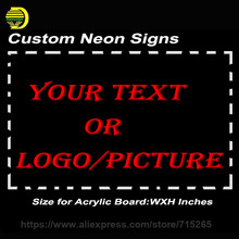 On/Off Switch Sign Design Your Own LED Neon Sign Custom Signs Bar Custom Neon Bulbs With Board Neon Light Sign for Beer Bar Pub(China)