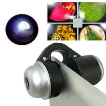 Mobile Phone Macro High Definition Lens 30X Super Lenses Magnifier LED Lights