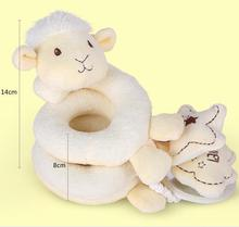 Newborn Baby  Rattle Toys Kid Mobile Cartoon sheep Bed Around Infant Stroller hand bell  doll  0-12 Months