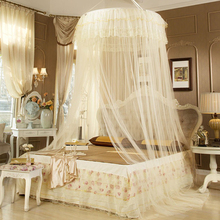 Princess Style Large Size Round Hung Dome Mosquito Netting Fine Mesh Bed Canopy Tent Mosquito Net for Double Bed moustiquaire