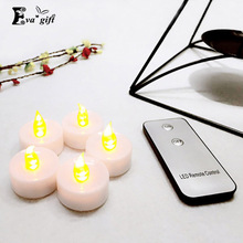 12Pcs LED Candle with Remote Control Flameless Candle Yellow Flicker Flash Tea Lights Candle Battery Operated Tealight Candles