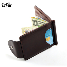 LEFUR Men PU Leather Wallet For Male Card Holder Purse Short Wallet Wallet Hasp Mini Vintage Men Money Holder Purse DropShipping(China)