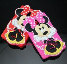 For Nokia X2 Case HOT 3D Silicon Minnie Mickey Face Soft Cell Phone Back Skin Cover for NoKia X2 Dual SIM RM-1013 X2DS