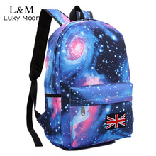 Universe Graffiti Printing Backpack Women Space Galaxy Stars School Bags for Teenage Girls Large Backpacks Blue mochila XA23H